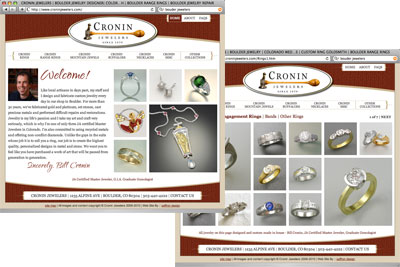 Cronin Jewelers screenshot
